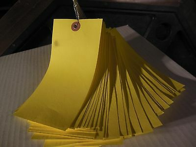 "Yellow wire strung tyvek shipping tags 6.25"" x 3.125"" 1000/case"