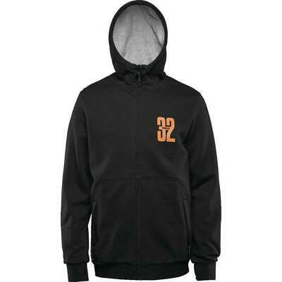 32 Winter 2016/17 Repel Stamped Zip Up Hoody Black Snowboard Thirtytwo
