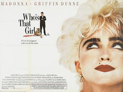 """Whos that Girl Madonna 16"""" x 12"""" Reproduction Movie Poster Photograph"""