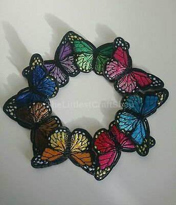 Butterfly, Iron on, Sew on Patch, Crafts, Embroidered, Scrapbooking