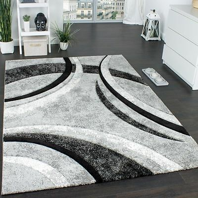 New Modern Rug Grey Soft Pile Carpet Small X Large Rugs Living Area Floor Mats