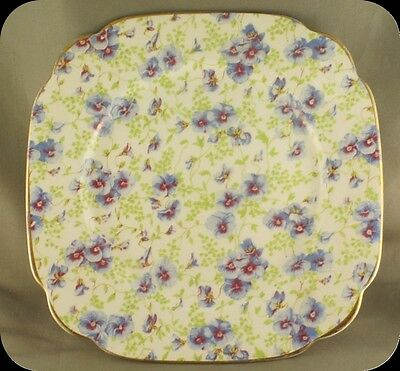 Royal Albert Blue Pansy Chintz Salad Plate