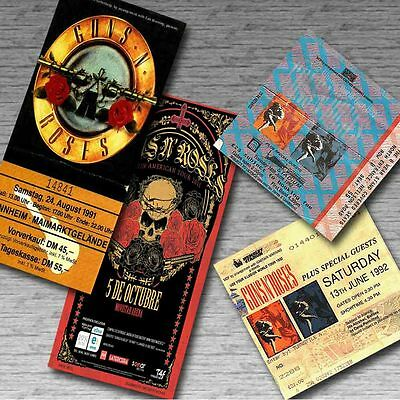 GUNS N' ROSES Magnetic Retro Concert Ticket Set!