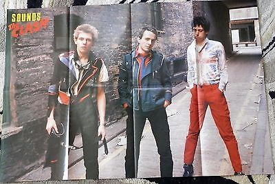 """Clash vintage poster- from Sounds magazine, approx 32"""" x 21.75"""", 1980's"""