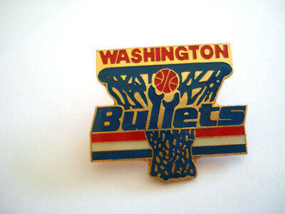 PINS RARE VINTAGE WASHINGTON BULLETS SPORT BASKETBALL USA wxc 3