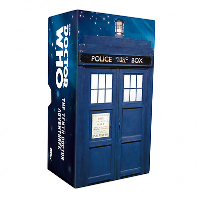 Topps Dr Who The Tenth Doctor Adventures Widevision set of 88 card + Tardis box