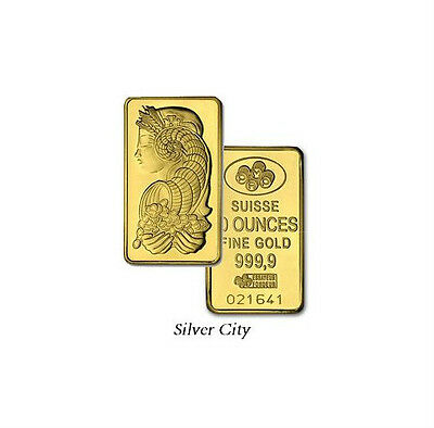 10 Ounce Pamp Suisse .9999 Fine Gold Bar 10Oz.