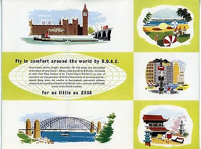 Boac 1950's Vintage ' Around The World' Brochure..mint Condition