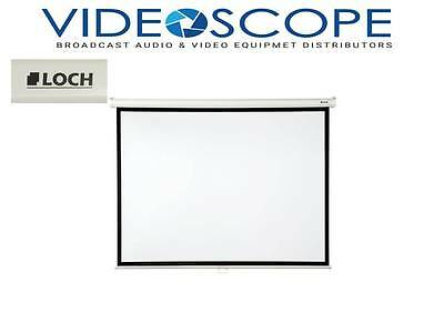"""Loch Matte White 84"""" diagonal Manual Projection Screen in stock as of 01/25/2017"""