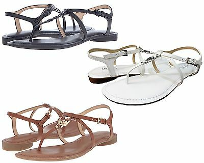 72ee9b3c2 Michael Kors Womens Bethany Slip On Buckle Ankle Strap Casual Flat Thong  Sandals