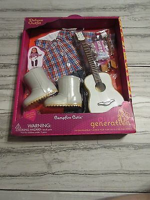 New! Our Generation Campfire Cutie Outfit Fits 18 in (46cm) Dolls -Smores,Guitar