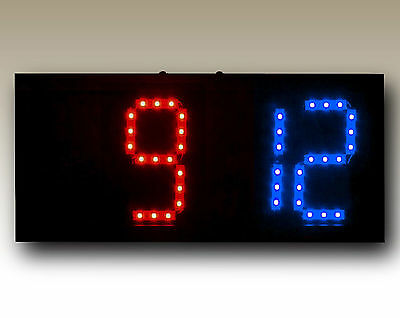 Portable Remote Controlled Scoreboard w/Rechargeable Battery (Red/Blue)