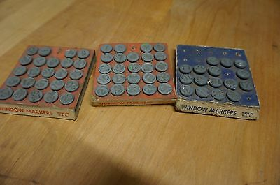 Vintage 1948 Window Markers ~ Hold-Tite Numbering Tacks by Acro Industries