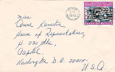 mjstampshobby 1973 Mexico Cover to House of Representative (Lot2229)