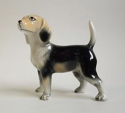 Vintage FOX HOUND BEAGLE DOG Figurine Ceramic Porcelain Puppy