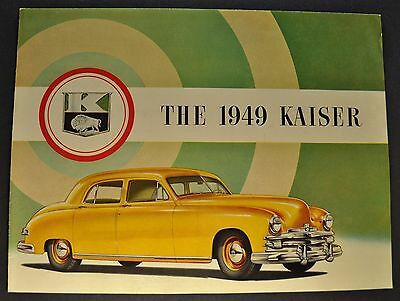 1949 Kaiser Sales Brochure Folder Deluxe Excellent Original 49