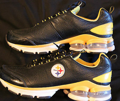 pittsburgh steelers reebok running shoes size 14 mens team issued leather.