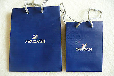 Authentic Swarovski Blue Paper Shopping Gift Bags (2)