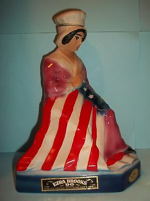 Ezra Brooks Betsy Ross Decanter 1975 by Heritage China 9 ½ in.Tall  Empty