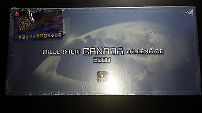 2000 Canada Millennium Uncirculated Coin Set - With Commemorative 50 Cents Coin