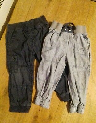 2 pairs of boys trousers Next & Mothercare 12-18 months