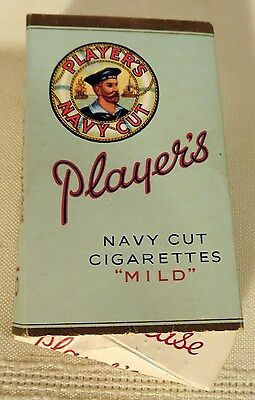 Vintage Player's Navy Cut Cigarettes Mild Tobacco Box Only Made in England