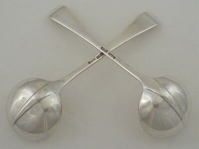 Scarce Pair of Hanoverian With Rat Tail Pattern Sauce Ladles, Chester 1919, 153g
