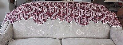 "Antique French HandBlocked 18thC Toile deJouy Quilted Valance~13 1/2""L X 73""W"