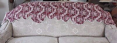 "Antique French HandBlocked & Resist 18thC Wide Quilted Valance~13 1/2""L X 73""W"