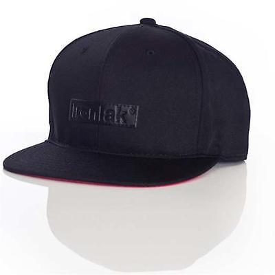 Ironlak Leather Patch Hat Adjustable Size (Black/neon Pink)