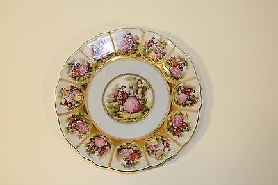 "JKW Carlsbad 8"" Plate  Hand Painted Germany"
