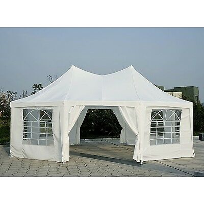 6.8 x 5m Garden Canopy Octagonal Party Wedding Tent Gazebo Heavy Duty Marquee