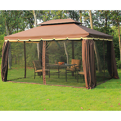 3x4m Aluminium Metal Gazebo Marquee Party Tent Canopy Pavillion Patio Shelter