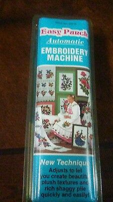 Punch Embroidery - automatic easy punch Embroidery Machine - NEW OLD STOCK