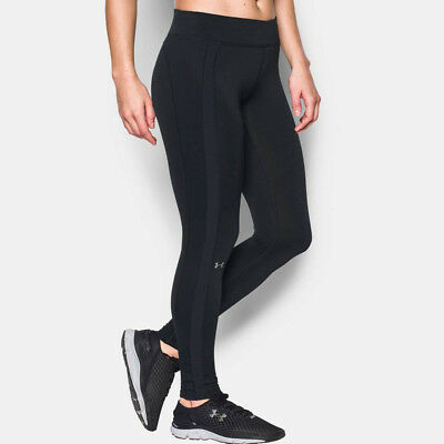 Under Armour ColdGear Womens Black Compression Running Long Tights Bottoms Pants