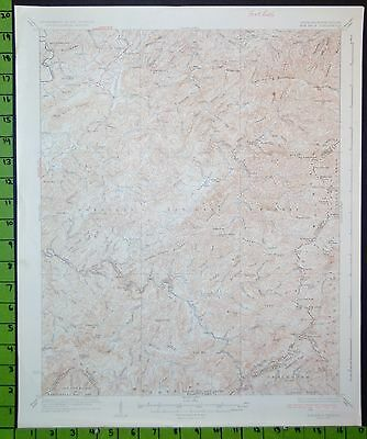 Cherokee National Forest Haw Knob Tennessee Antique Topographic Map 1937 16x20