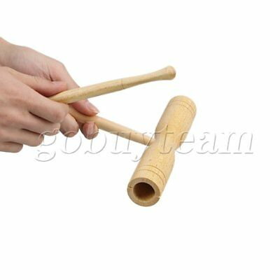 Children Music Percussion Sound Tube Wooden Clapper Instruments Preschool Toys