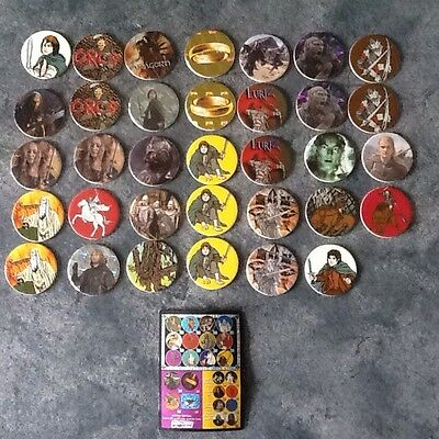 Bulk Lot 34 Lord Of The Rings Pickers Collectable & 33 Other Tazos - BUY NOW.