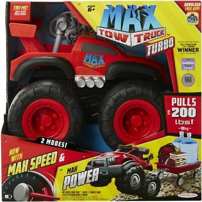Max Tow Truck Red Turbo Speed Truck Red Rims Max Power Pulls up to 200 Pounds