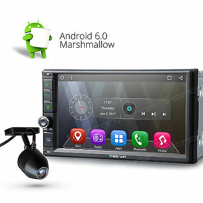 "Eonon Android 6.0 2Din 7""Car Stereo GPS BT Radio Touch Screen WiFi USB Dashcam G"