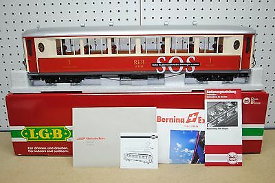 LGB 30653 RhB SOS 1st Class Pullman Coach Salon Car *G-Scale* NEW