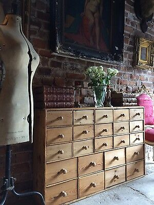 Fabulous Antique Haberdashery Chest of Drawers Shop Pine Victorian19th Century