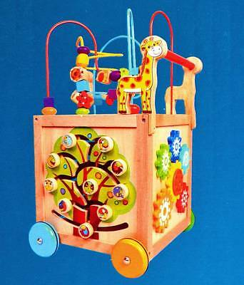 NEW Educational Toy 6in1 Bead Maze Activity Cube Baby Toddler Walker - Giraffe