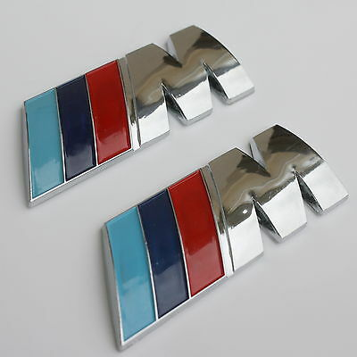 2^ 3D Badge BMW ///M Emblem M badge sticker car rear trunk decal M-Series M3 M5