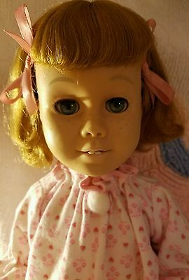 CHATTY CATHY Sandy Blond Hair with Blue  Eyes. Soft head. Wearing PJs