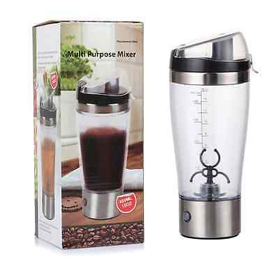 450mL Portable Electric Protein Shaker And Blender Sport Bottle | Self Stirring