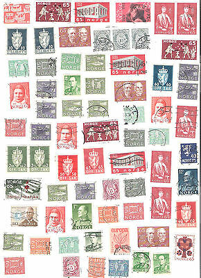 Lot of 71 old stamps from Norway