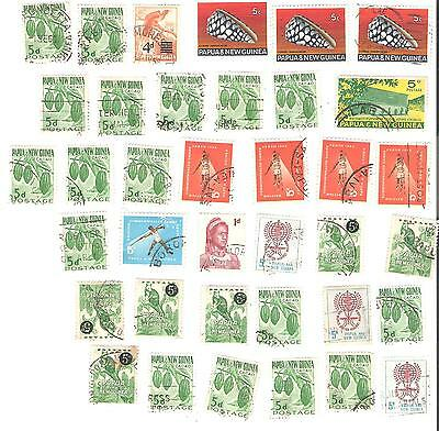 Lot of 37 old stamps from Papua and New Guinea