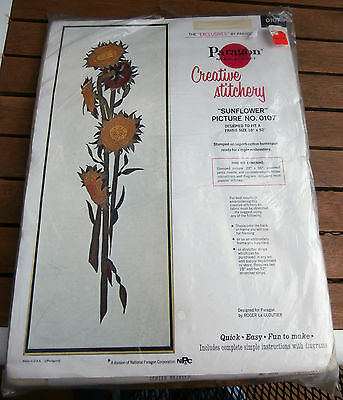 Paragon Creative Stitchery Crewel Kit Sunflower Roger LeCloutier 18 by 52 NEW