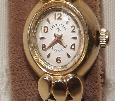 26 Lady Elgin Shockmaster 14kg Gold Filled winding watch - Working - 21 jewels